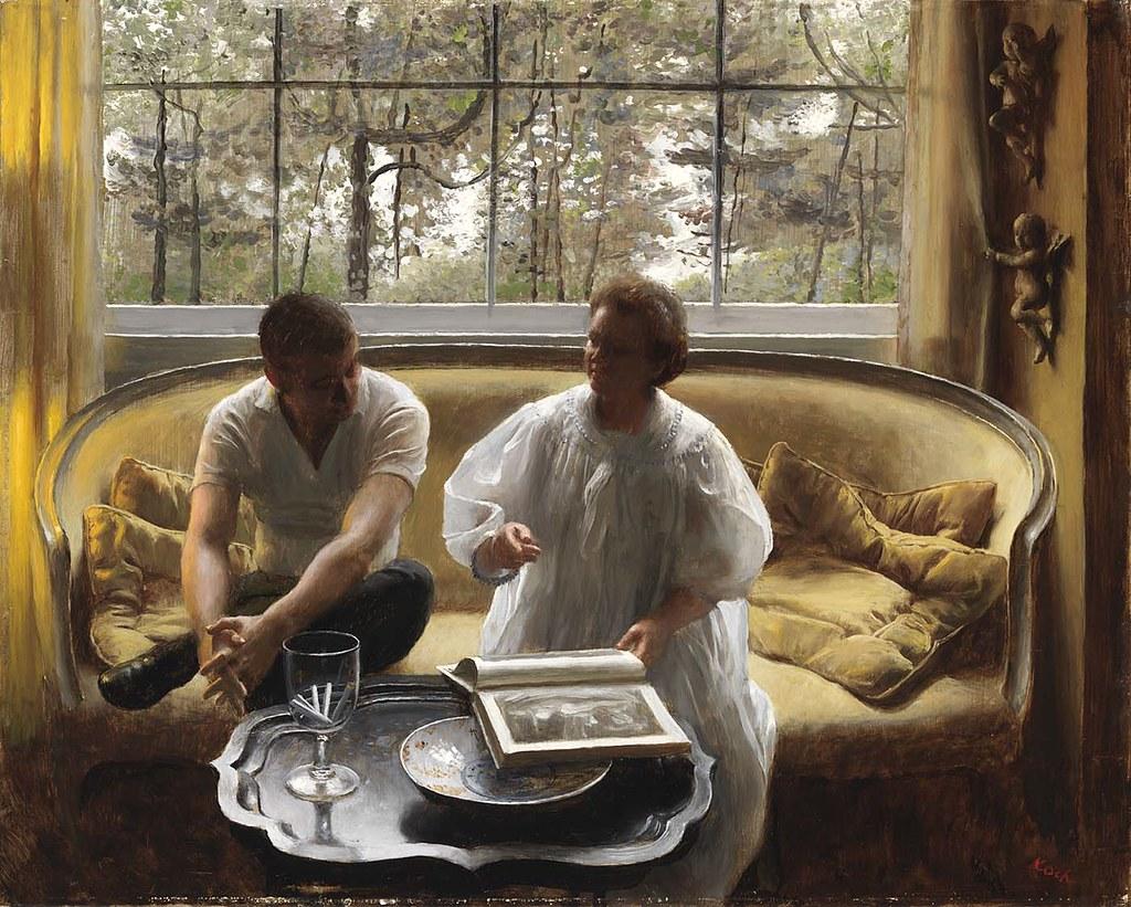 John Koch - Conversation [c.1962]  John Koch (Toledo, Ohio,…  Flickr