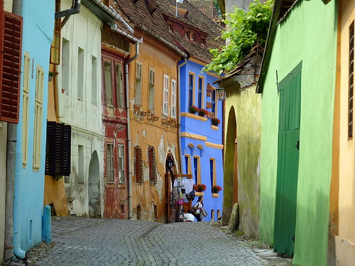 A street in Sighisoara, Romania | by Frans.Sellies