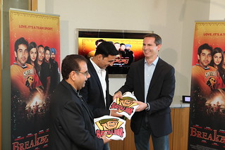 "Premier McGuinty celebrates Ontario's strong film industry, friendship with India and Akshay Kumar's birthday before the launch of ""Breakaway"", the Bollywood movie set in Brampton 