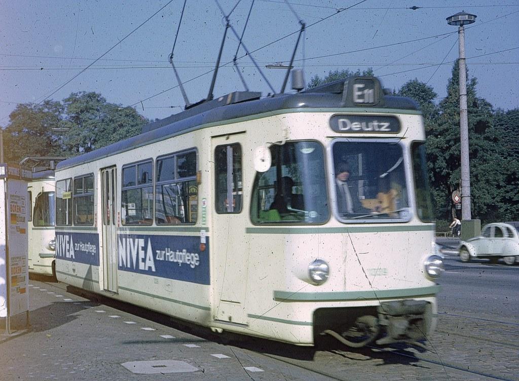 kvb koeln 1300 series tram in 1971 this slide was on the flickr. Black Bedroom Furniture Sets. Home Design Ideas