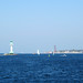 Lighthouse and Laboe Naval Memorial