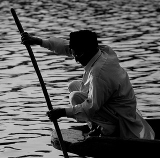 Srinagar (India) - Old man on his boat | by AnyRoadAnywhere