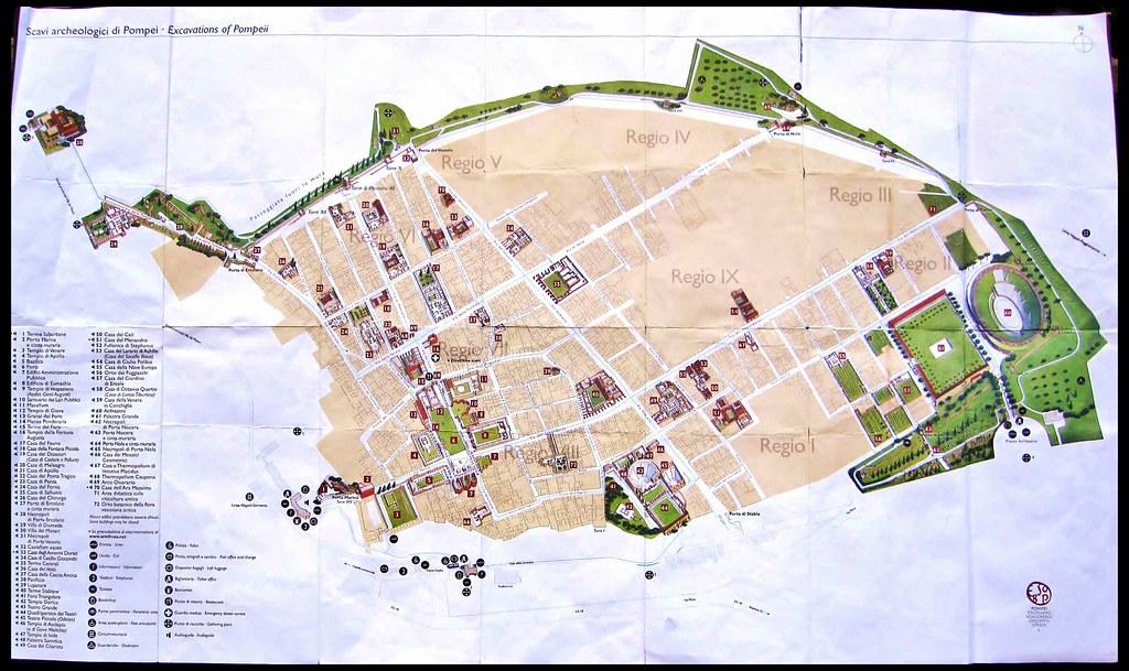 Pompeii Map Google my Map of Pompeii
