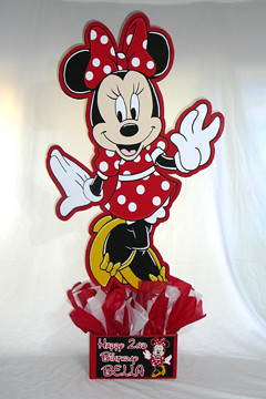 24 Inch Minnie Mouse Personalized Centerpiece Red White Bl