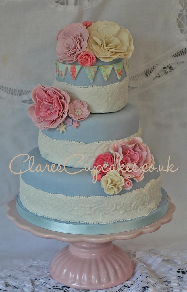 Vintage White Cake Stand