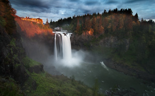 Last Light at Snoqualmie Falls | by Deej6