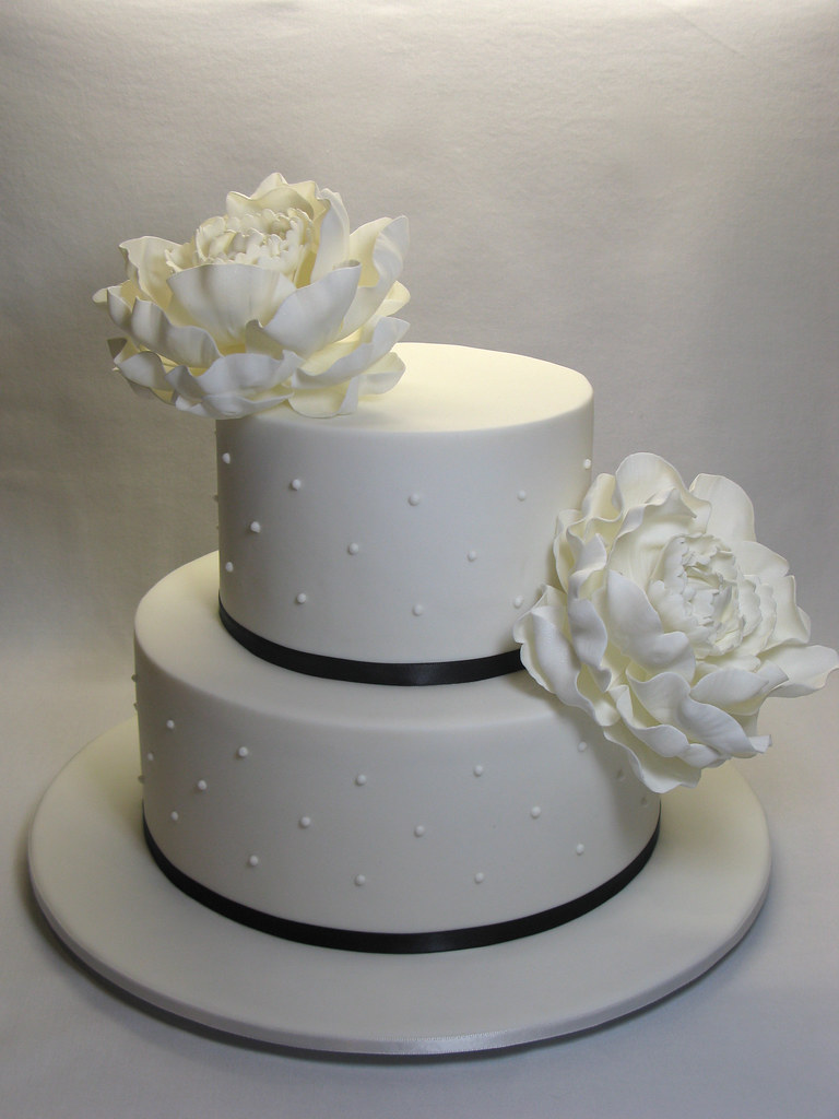 2 tier white wedding cake 2 tier peony wedding cake 2 tier peony wedding cake the 10189