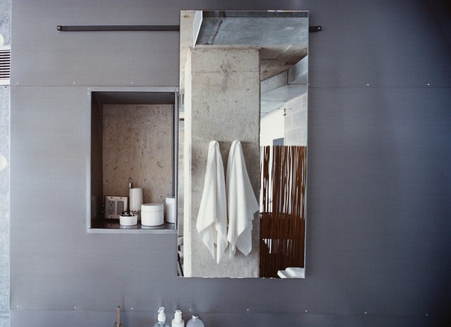 Sliding Mirrors Bathroom Bathroom Sliding Mirror Wall Pocket Dwell Www  Dwell Com