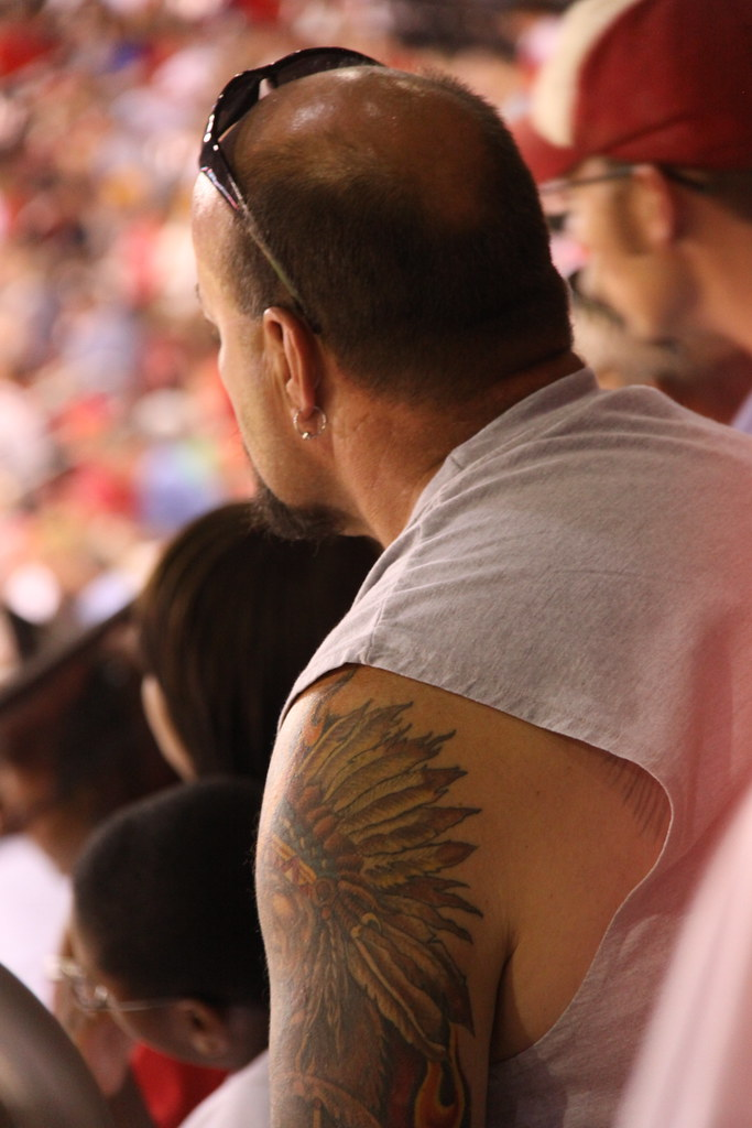 Dude With An Indian Tattoo Busch Stadium St Louis Mo