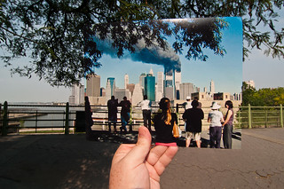 Looking Into the Past: Crowd Watching the World Trade Center Burn from the Brooklyn Promenade, September 11, 2001 | by jasonepowell