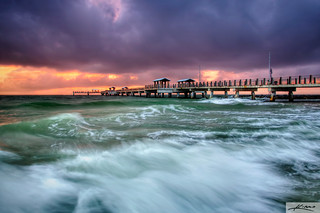 Fort desoto park fishing pier ocean waves captainkimo for Fort desoto fishing pier