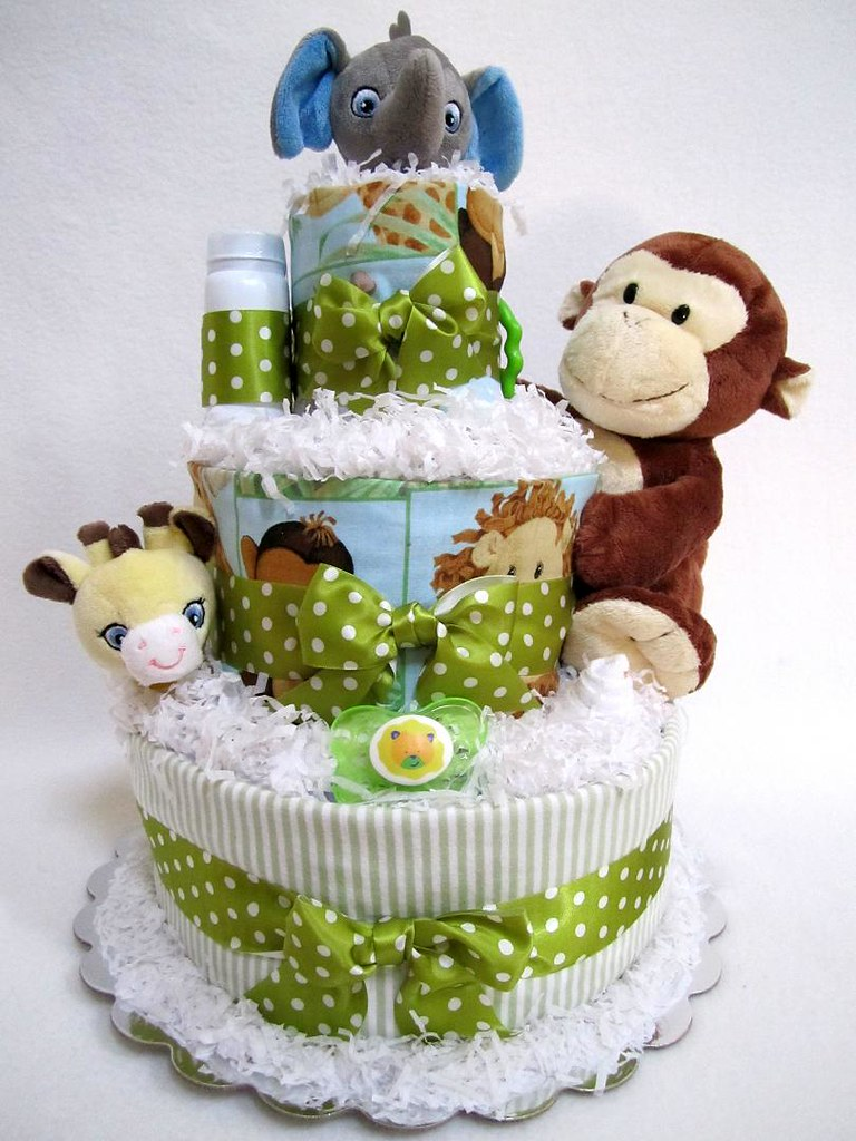 Diaper Jungle Cake