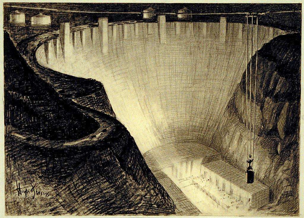 Hoover Dam- Hugh Ferriss | James Vaughan | Flickr