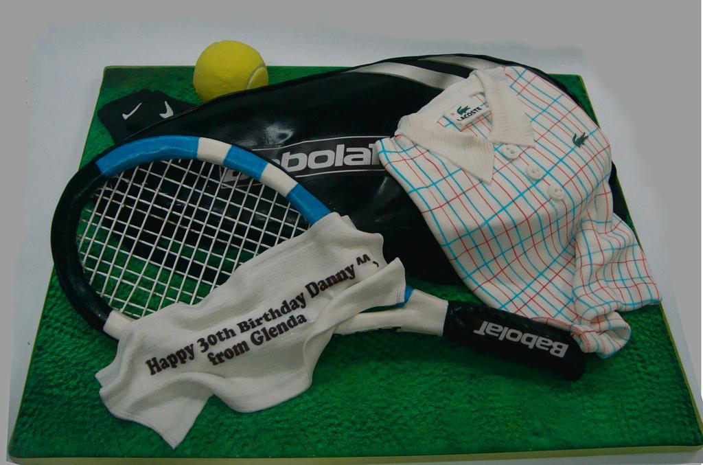 Tennis Racquet Birthday Cake