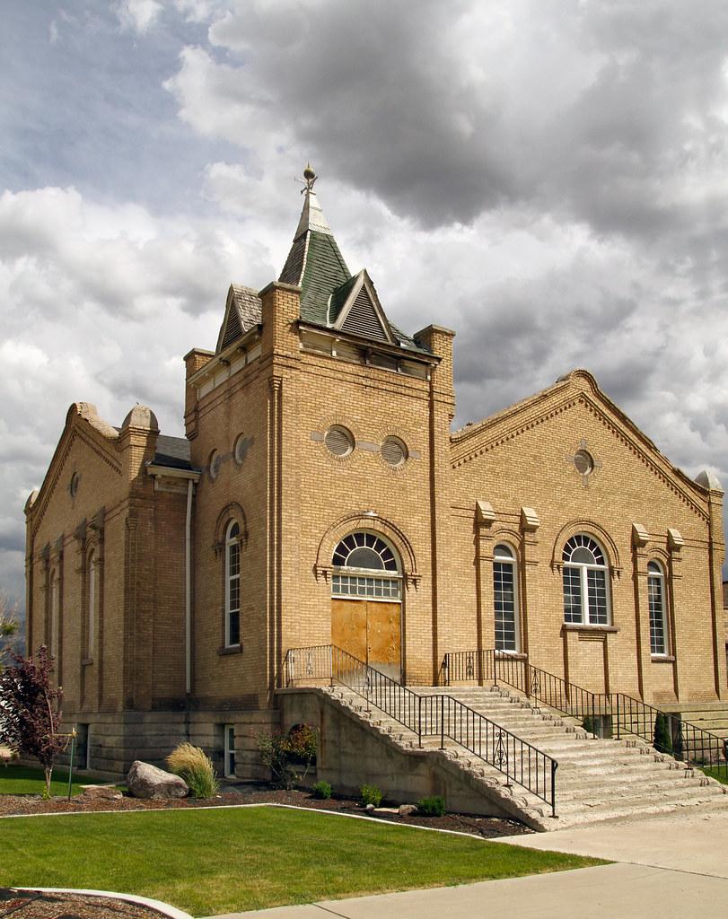 Old Mormon Church Elsinore Utah Population 733 This