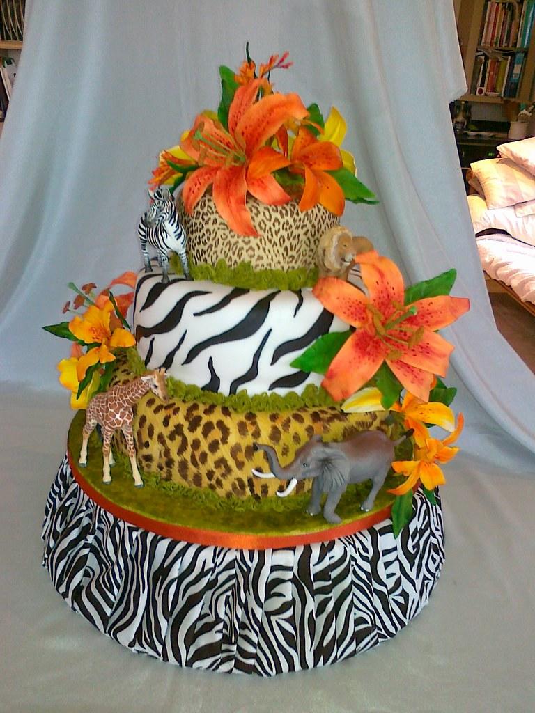 Safari Wedding Cake Safari Themed Cake Decorated With