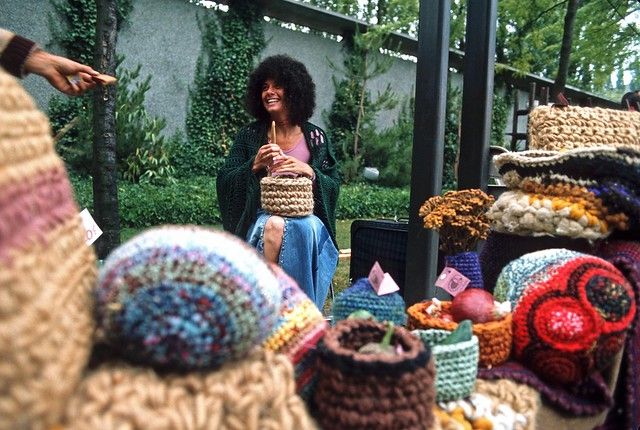 Craft vendor at Bumbershoot, 1973