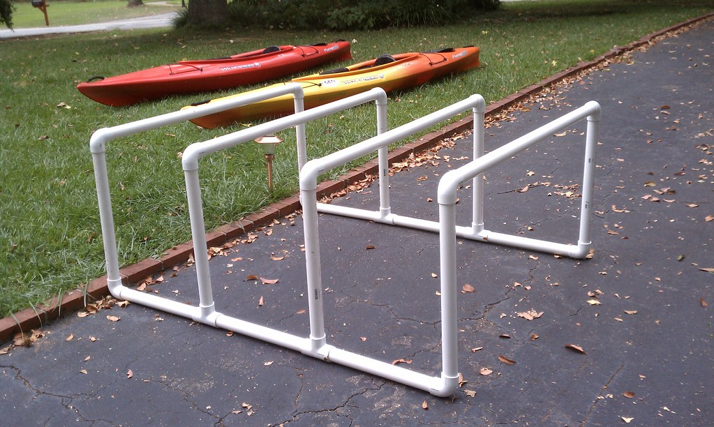 PVC Kayak Storage | Quick and dirty PVC pipe stand to ...