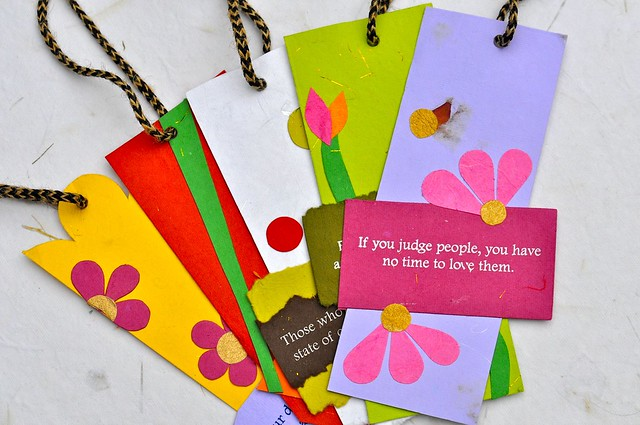 Handmade bookmarks with quotes flickr photo sharing