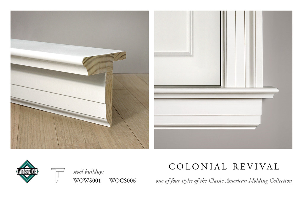 Colonial revival stool molding stool buildup for the for Colonial trim molding