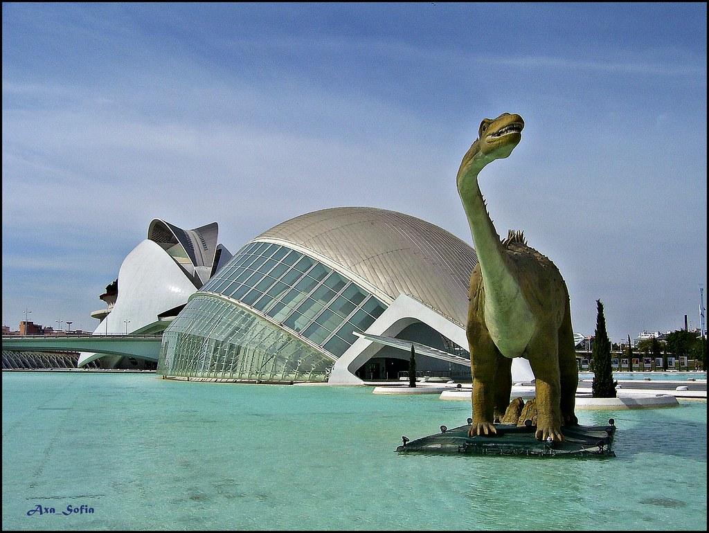 La Ciudad de las Artes y las Ciencias , Valencia .  Flickr