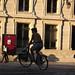 Sunset bike riding in Paris