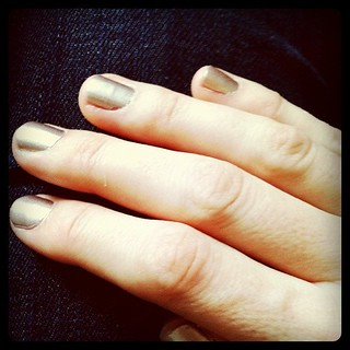 Gilded nails: Those Sally Hansen polish strips actually work! Thx to @doorsixteen for the tip. | by kflaim