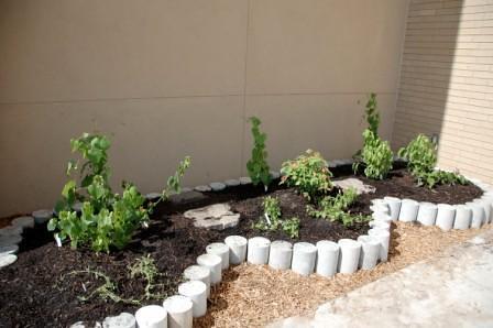 Concrete Test Cylinders Make Fantastic Garden Borders Flickr