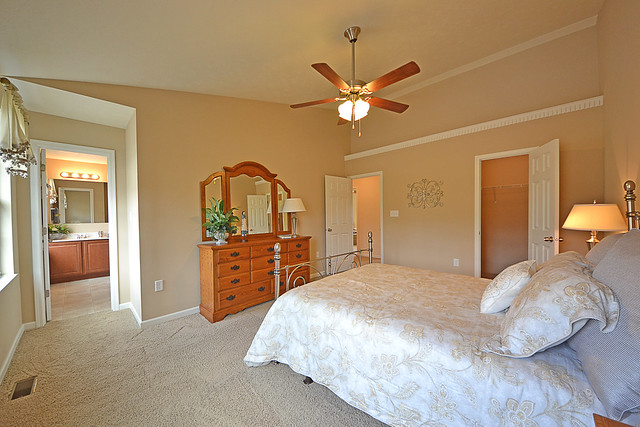 Master Bedroom With Walk In Closet And Master Bath