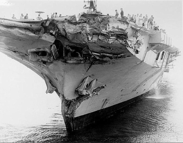 June 3 1969 The Bows Of Hmas Melbourne Ii After Her