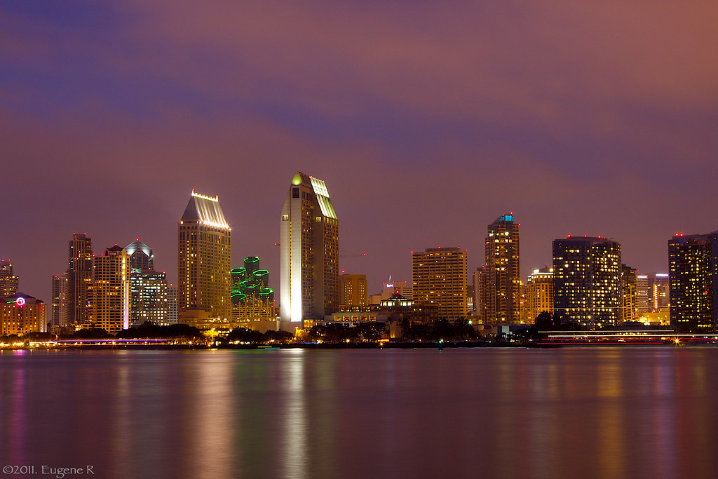 San Diego Skyline At Night This Picture Was Taken From