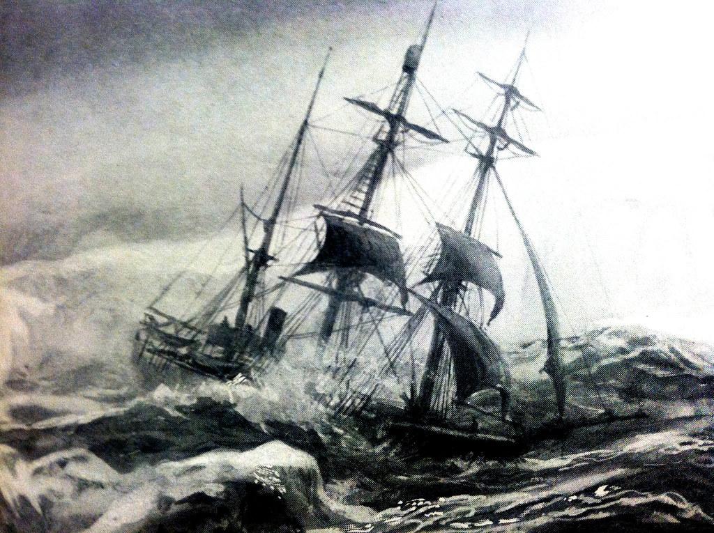 stormtossed ship near antarctica 1896 reposting of