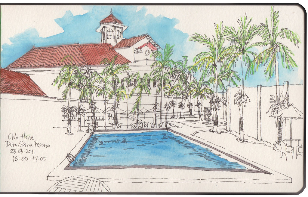 Club house and swimming pools still the same swimming for Swimming pool drawing