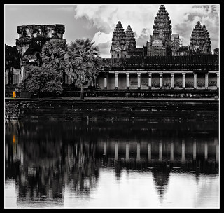 reflecting monk and the majestic temple (explored) | by PNike (Prashanth Naik..back after ages)