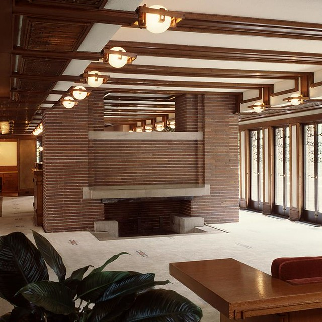 Frank Lloyd Wright Fireplace Screens: Robie House Image By Tim Long