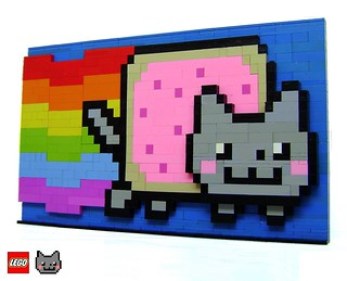 LEGO Nyan Cat 3D structure | by Joris Blok