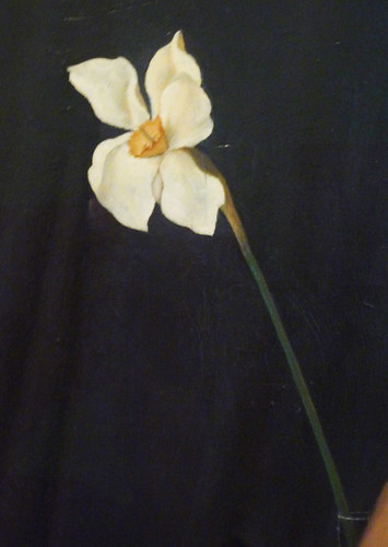 Christian Schad, Self-Portrait with detail of Narcissus | by profzucker