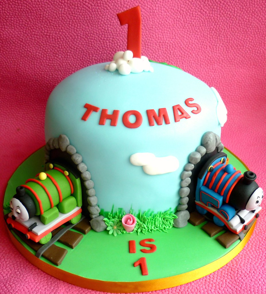 Thomas The Tank Engine Birthday Cake This Was A Cake Made Flickr