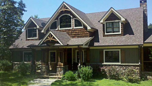 Rustic craftsman home picture max fulbright flickr for Max fulbright lake house plans