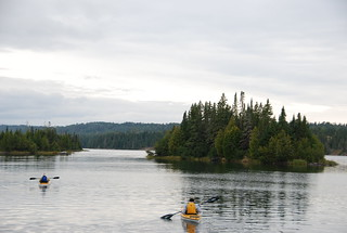 Kayakers on Tobin Harbor.  Rock Harbor, Isle Royale National Park, Michigan | by Corvair Owner