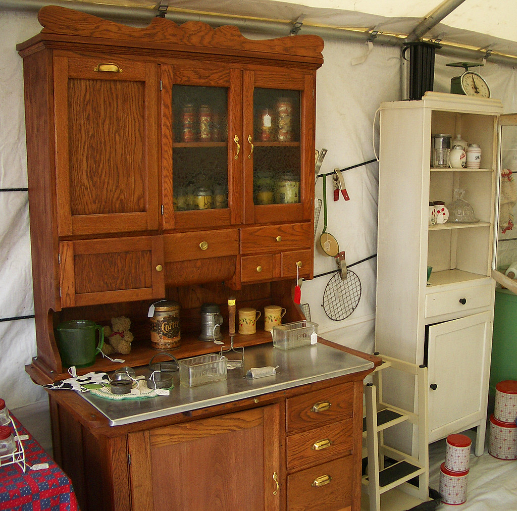 Another Hoosier Cabinet In A Booth At Brimfield