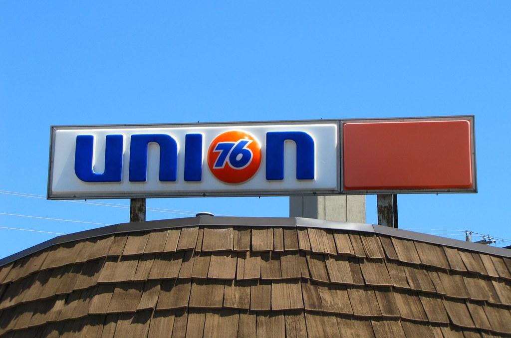 Union 76 Sign Downtown Alpena Michigan Brandon