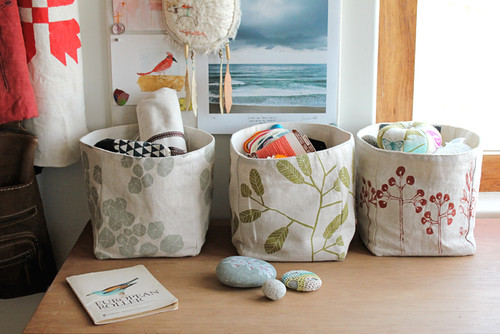 Fabric baskets | by Geninne