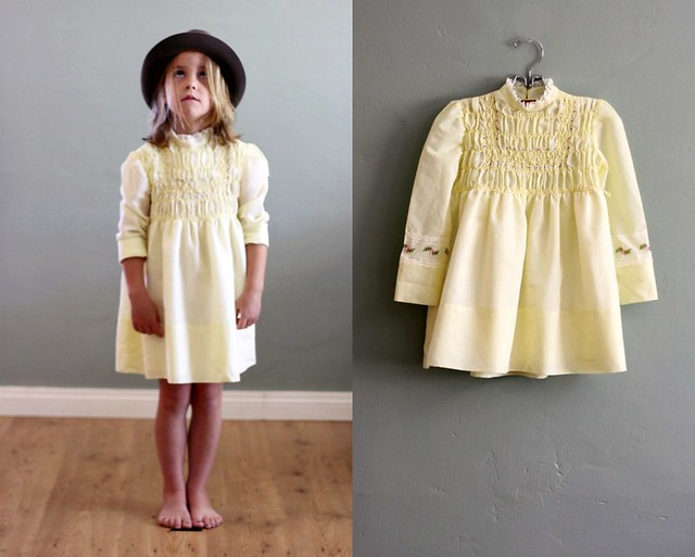 vintage children s clothing yellow smocked dress flickr