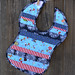 Baby Bib in Blue Patchwork