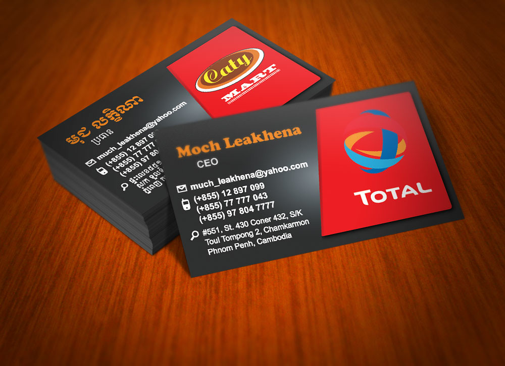 Total Gas Station Business Card