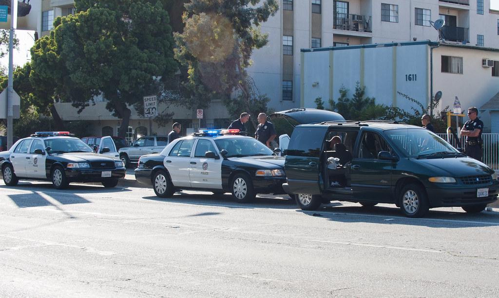 LAPD Venice pursuit terminus | Suspect vehicle brought to