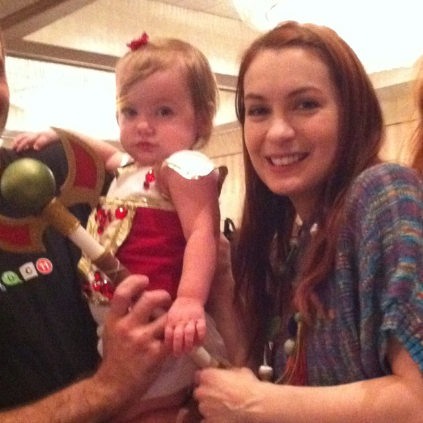 Felicia day with her daughter Calliope Maeve