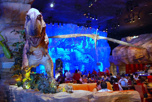 Downtown disney t rex cafe flickr photo sharing for Disney dining reservations t rex