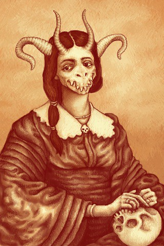 Victorian Demon Mistress | Another iPhone sketch- this one ...: https://www.flickr.com/photos/vonzzyzx/6124646673/